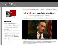 écran USC Shoah Foundation Institute Jan Karski