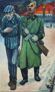 Un tableau de David Olère à Auschwitz