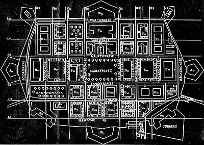 plan citadelle Terezin Theresienstadt