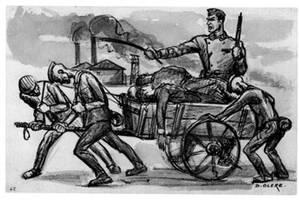 dessin David Olère Leichenträgerkommando Auschwitz Birkenau prisonniersd