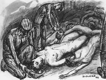 dessin David Olère coiffeur dentiste chambre à gaz Auschwitz Birkenau