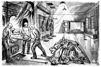 dessin David Olère fours Auschwitz Birkenau crématoire