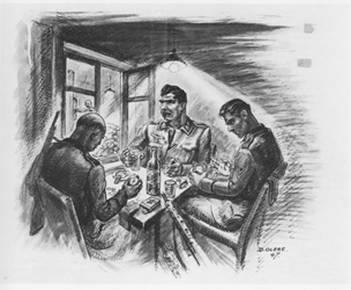 dessin David Olère crématoire SS Auschwitz Birkenau