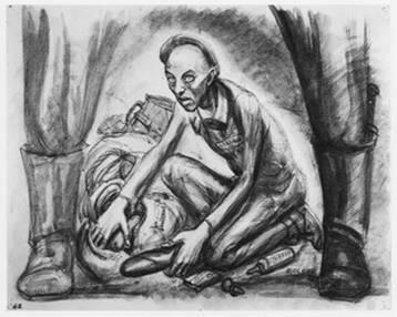dessin David Olère nourriture crématoire Sonderkommando Auschwitz Birkenau