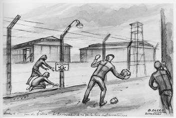 dessin Dadid Olère Sonderkommando nourriture camp femmes Auschwitz Birkenau