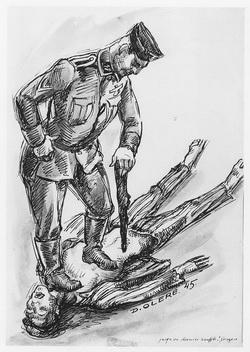 SS Johannes Gorges Auschwitz Birkenau Sonderkommando dessin David Olère