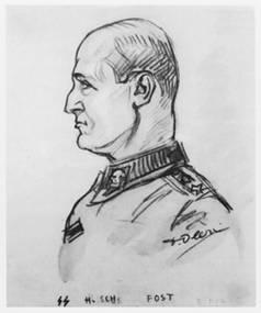 SS Peter Voss dessin de David Olère Auschwitz Birkenau crématoires