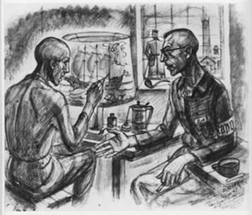 dessin David Olère Kapo Brück Sonderkommando Auschwitz Birkenau