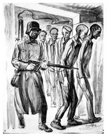 dessin David Olère révolte Sonderkommando octobre 1944 Auschwitz Birkenau