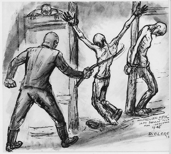 dessin David Olère Kapo Paulus Melk Mauthausen baraque