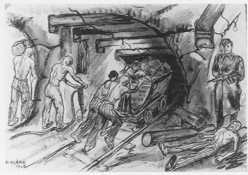 dessin David Olère tunnel Melk Ebensee Mauthausen 1945