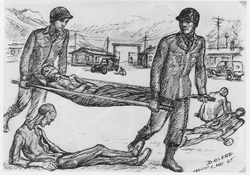 dessin David Olère Ebensee libération 6 mai 1945